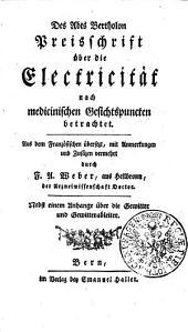 Preisschrift über die Electricität, aus medizinischen Gesichtspunkten betrachtet