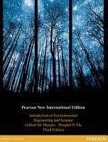 Introduction to Environmental Engineering and Science  Pearson New International Edition PDF