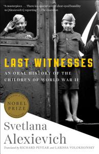 Last Witnesses Book