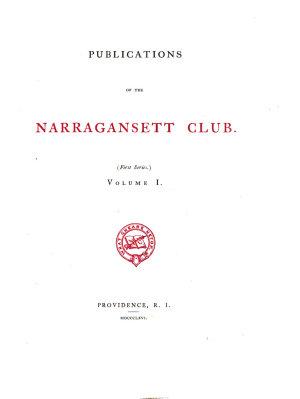 Publications of the Narragansett Club PDF