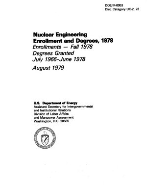 Nuclear Engineering Enrollments and Degrees  1978 PDF