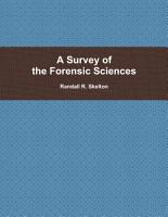 A Survey of the Forensic Sciences PDF