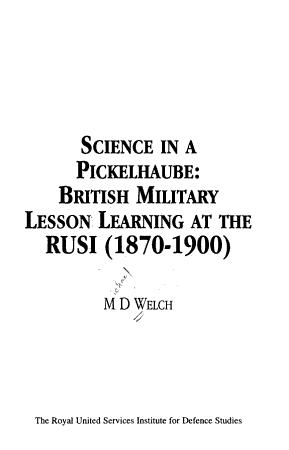 Science in a Pickelhaube PDF