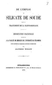 De l'emploi du silicate de soude dans le traitement de la blennorrhagie