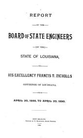 Report of the Board of State Engineers of the State of Louisiana to ... Governor of Louisiana from ...