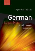 German Legal System and Laws PDF