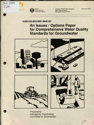 An Issues options Paper for Comprehensive Water Quality Standards for Groundwater PDF