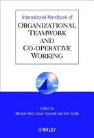 International Handbook of Organizational Teamwork and Cooperative Working PDF
