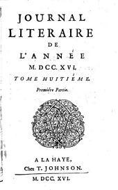 Journal litéraire: Volume1;Volume8