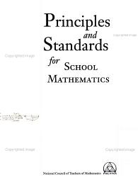 Principles and Standards for School Mathematics PDF