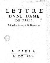 Lettre d'une dame de Paris à son serviteur, à S. Germain
