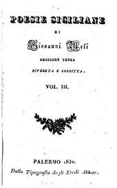 Poesie siciliane: Volume 3