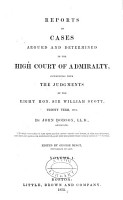 Reports of Cases Argued and Determined  1798 1850 PDF