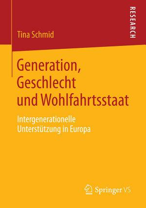 Generation  Geschlecht und Wohlfahrtsstaat PDF
