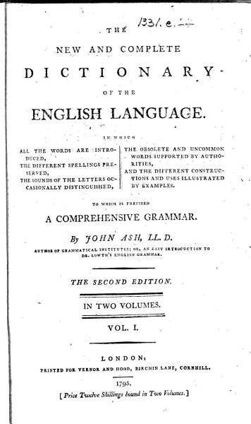 Download The New and Complete Dictionary of the English Language Book