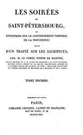 Les Soirees De Saint-Petersbourg, Ou Entretiens Sur Le Gouvernement Temporel De La Providence