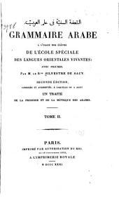 Grammaire arabe à l'usage des élèves de l'École spéciale des langues orientales vivantes: avec figures, Volume1