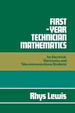 First Year Technician Mathematics