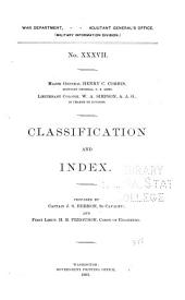 Classification and Index: Issue 37