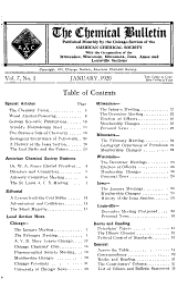 Chemical Bulletin: Volume 7