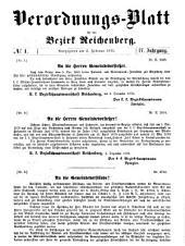 Verodnungs-Blatt für den Bezirk Reichenberg: IV. Jahrgang