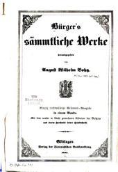 Bürger's sämmtliche werke