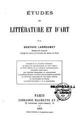 Etudes de littérature et d'art