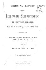 Report of the Superintendent of Public Instruction of the State of Utah