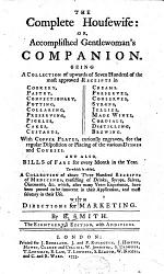 The Compleat Housewife, Or, Accomplished Gentlewoman's Companion