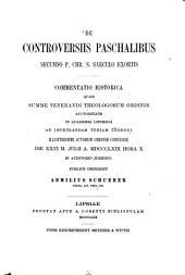 De controversiis paschalibus secundo p. Chr. n. saeculo exortis
