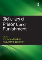 Dictionary of Prisons and Punishment PDF