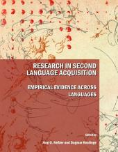 Research in Second Language Acquisition: Empirical Evidence across Languages