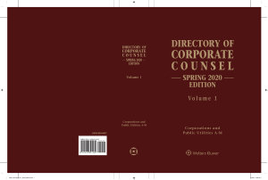 Directory of Corporate Counsel  Spring 2020 Edition