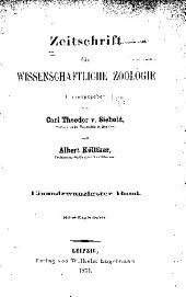 Zeitschrift für wissenschaftliche Zoologie: Band 21