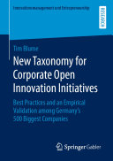 New Taxonomy for Corporate Open Innovation Initiatives