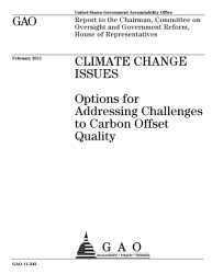 Climate Change Issues  Options for Addressing Challenges to Carbon Offset Quality PDF
