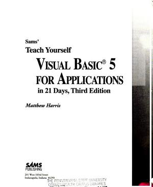 Teach Yourself Visual Basic 5 for Applications in 21 Days PDF