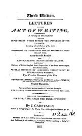 Lectures On The Art Of Writing
