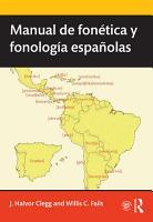 Manual de fon  tica y fonolog  a espa  olas PDF