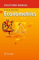 Solutions Manual for Econometrics PDF