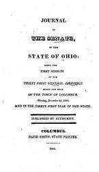 The Journal Of The Senate Of The General Assembly Of The State Of Ohio  Book PDF