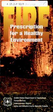 Prescription for a healthy environment