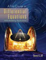 A First Course in Differential Equations PDF