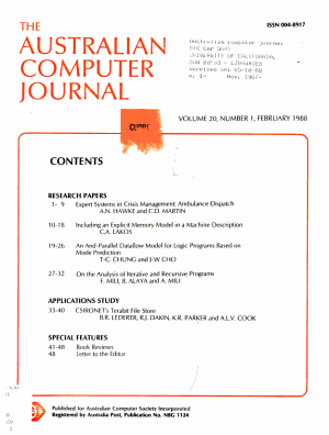 The Australian Computer Journal PDF