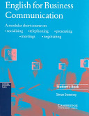 English for Business Communication Student s book PDF