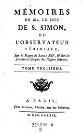 Memoires de Mr. le duc de S. Simon