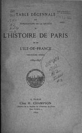 Bulletin de la Société de l'histoire de Paris et de l'Ile-de-France: Volume2