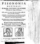 Fisonomia naturale ... di nuovo ornata di vaghe figure delineate da G. Briccio