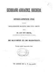 Gerbrand Adriaensz. Bredero: historisch-aesthetische studie van het Hollandsche blijspel der XVIIde eeuw, Volume 3