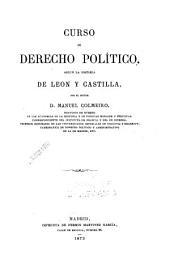Curso de derecho político: según la historia de León y Castilla